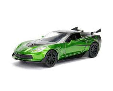 Transformers The Last Knight Diecast Model 1/32 Crosshairs Corvette Stingray