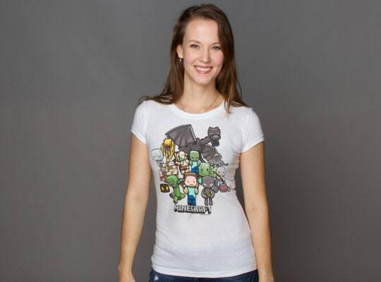 Minecraft Premium Ladies T-Shirt Party Size L