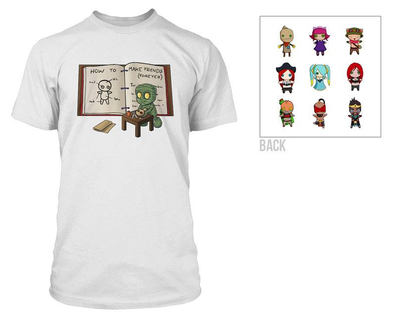 League of Legends Premium T-Shirt Amumu Voodoo Doll Size L