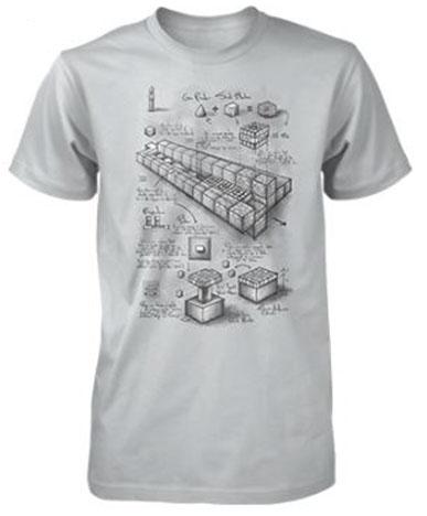 Minecraft Premium T-Shirt Blueprint TNT Cannon Size L