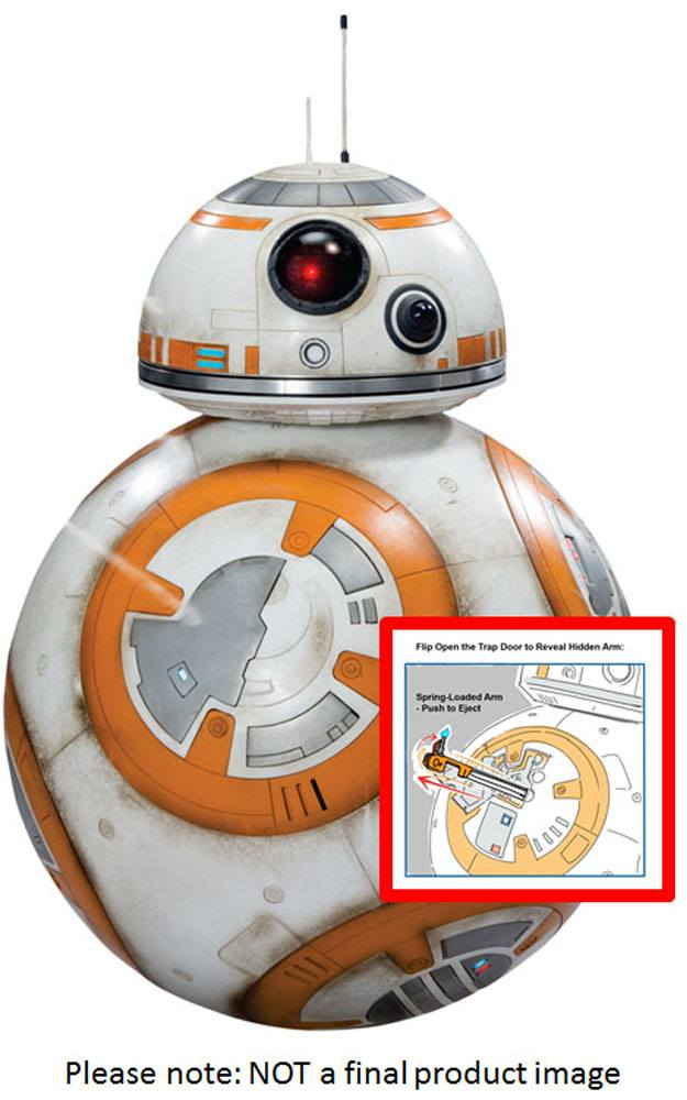 Star Wars Episode VII Giant Size Action Figure Deluxe BB-8 45 cm Case (2)