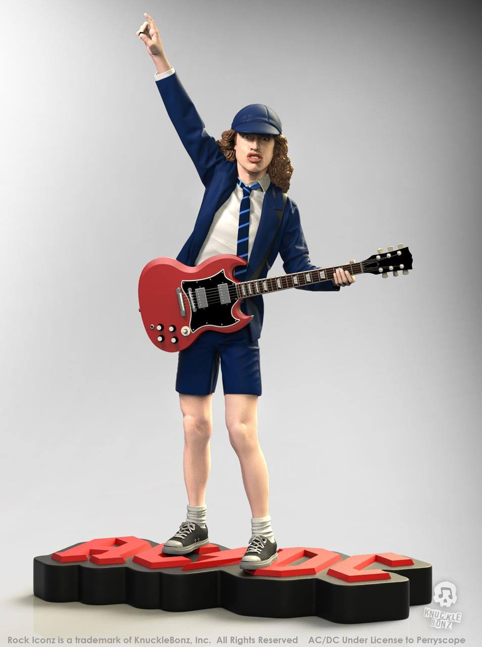 Angus Young II AC/DC Rock Iconz 1/9 Statue by Knucklebonz