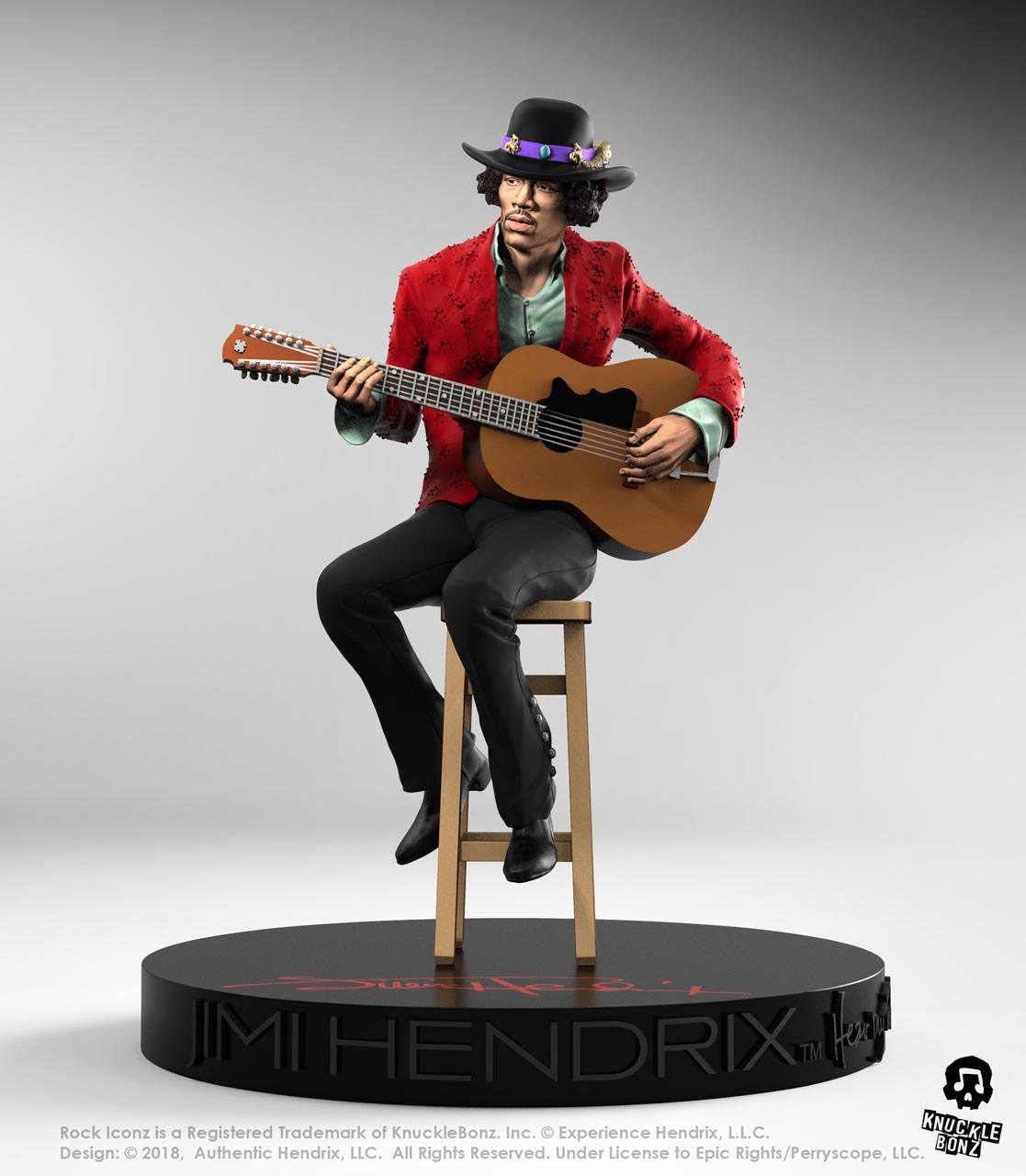 Jimi Hendrix II Jimi Hendrix Rock Iconz 1/9 Statue by Knucklebonz