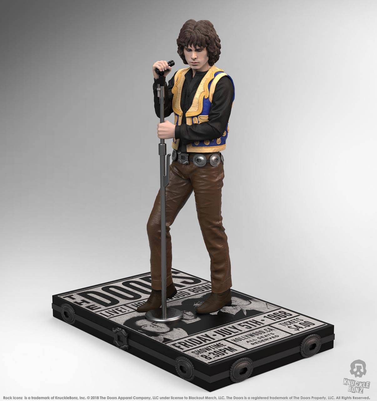 Jim Morrison The Doors Rock Iconz 1/9 Statue by Knucklebonz