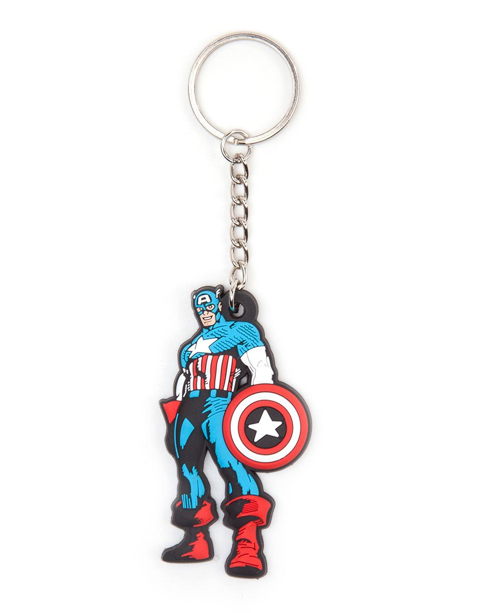 Marvel Comics Rubber Keychain Comic Captain America