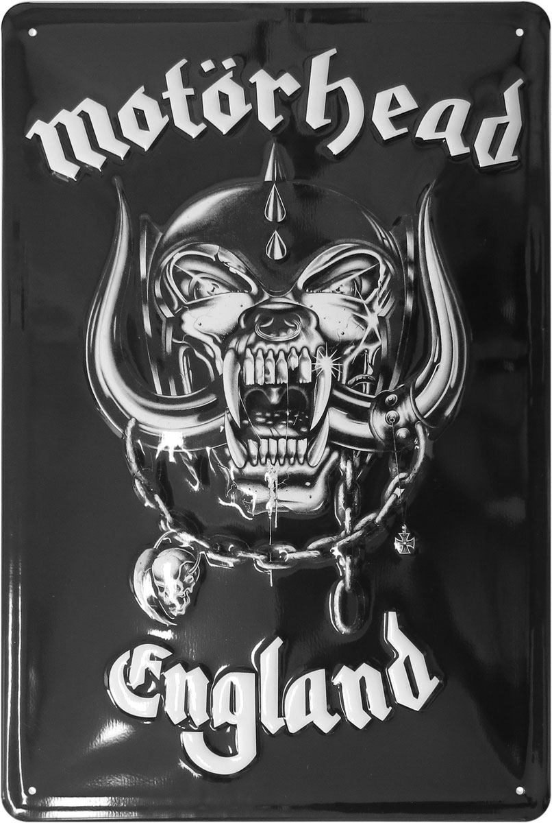 Motörhead Tin Sign England 20 x 30 cm