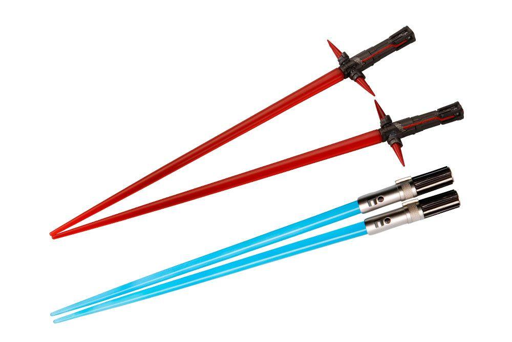 Star Wars Episode VII Chopstick Kylo Ren & Rey Lightsaber Chopstick Battle 2-Set