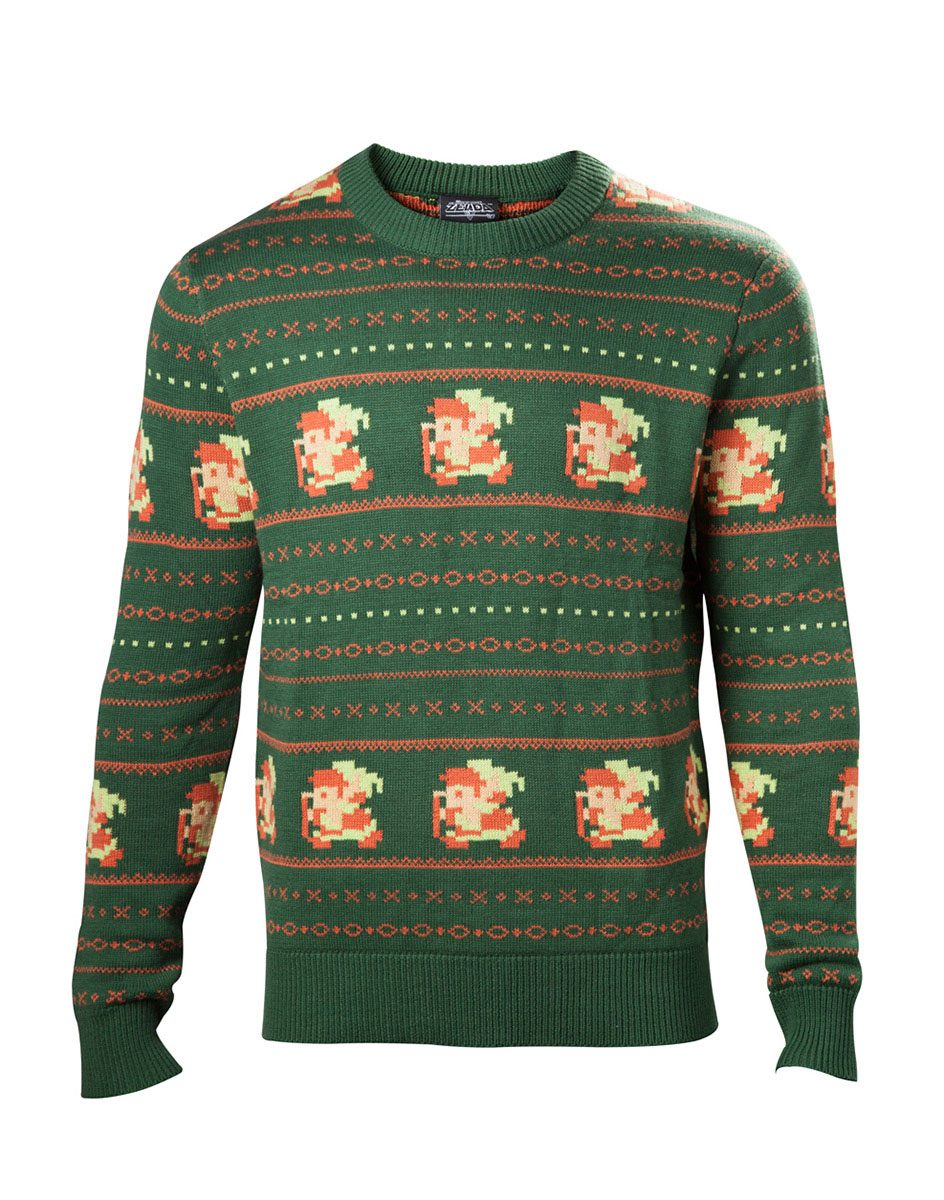 The Legend of Zelda Sweater Link Christmas green Size XL