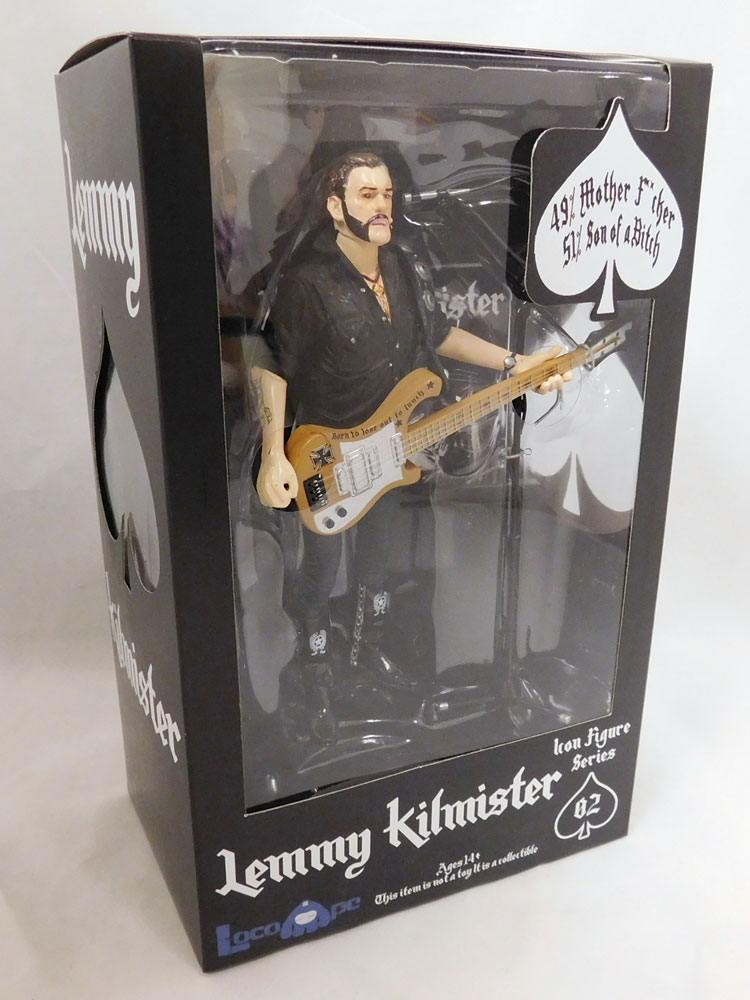 Motörhead Action Figure Lemmy Kilmister Rickenbacker Guitar Cross 16 cm