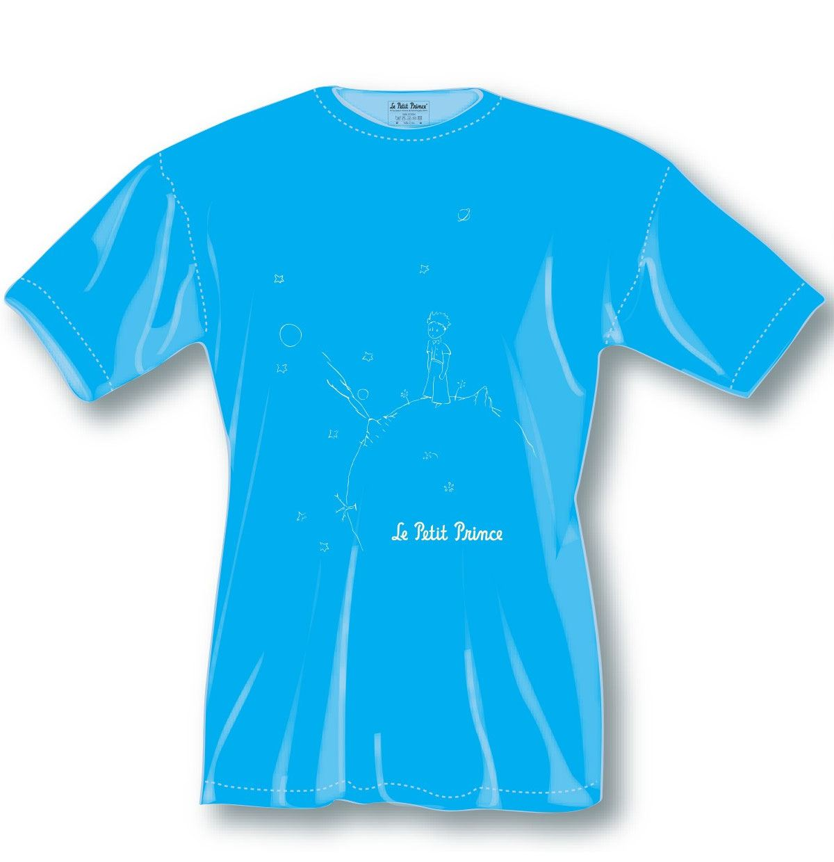 The Little Prince Ladies T-Shirt Blue Icon Size XL