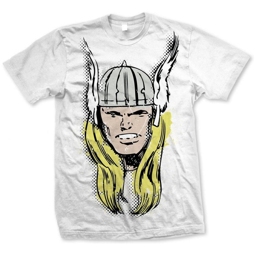Marvel Comics T-Shirt Thor Big Head Distressed  Size XL