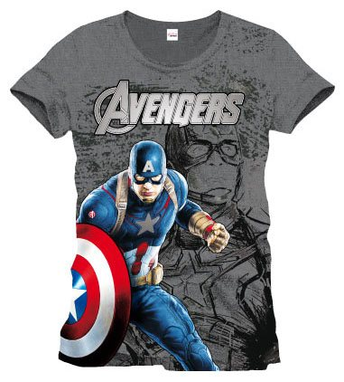 Avengers Age of Ultron T-Shirt Captain America Size L