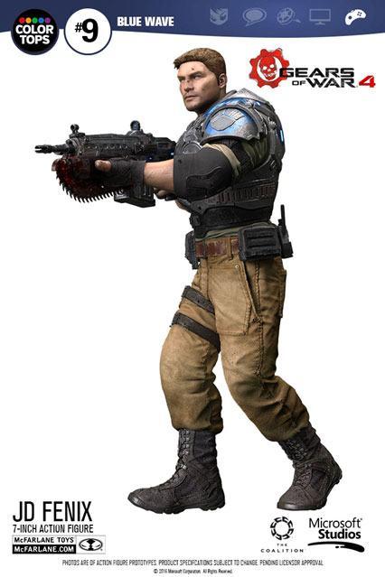 Gears of War 4 Color Tops Action Figure JD Fenix 18 cm