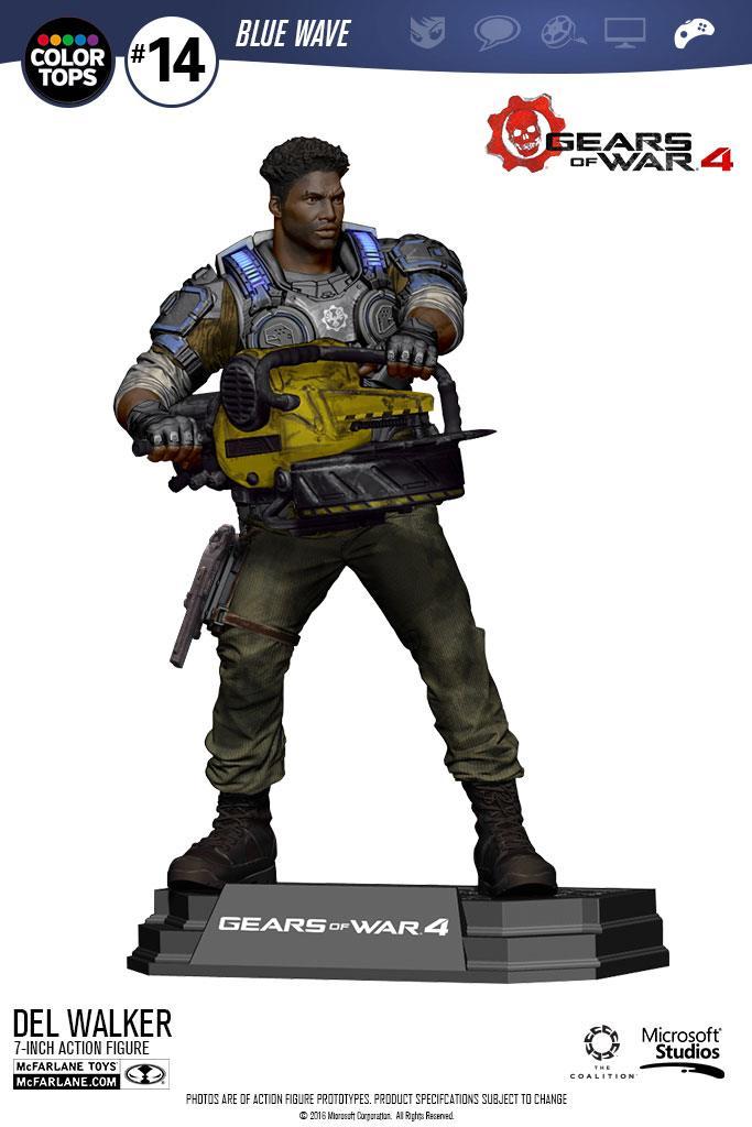 Gears of War 4 Color Tops Action Figure Delmont 'Del' Walker 18 cm