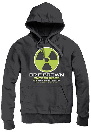 Back to the Future Hooded Sweater Dr E. Brown Size M