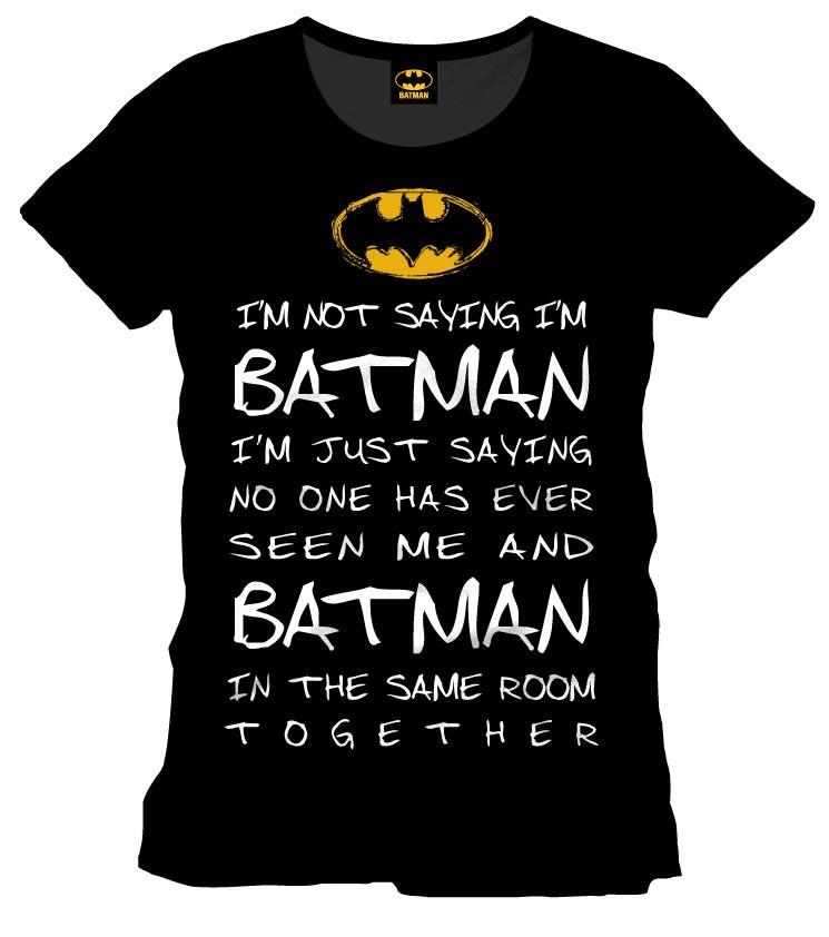 Batman T-Shirt Who Is Batman Size M