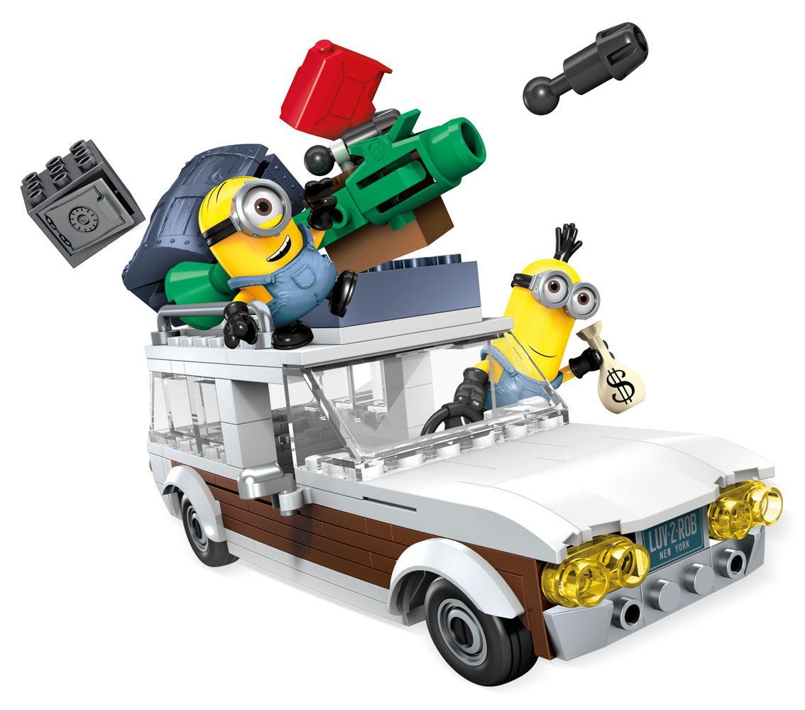 Minions Mega Bloks Construction Set Station Wagon Getaway