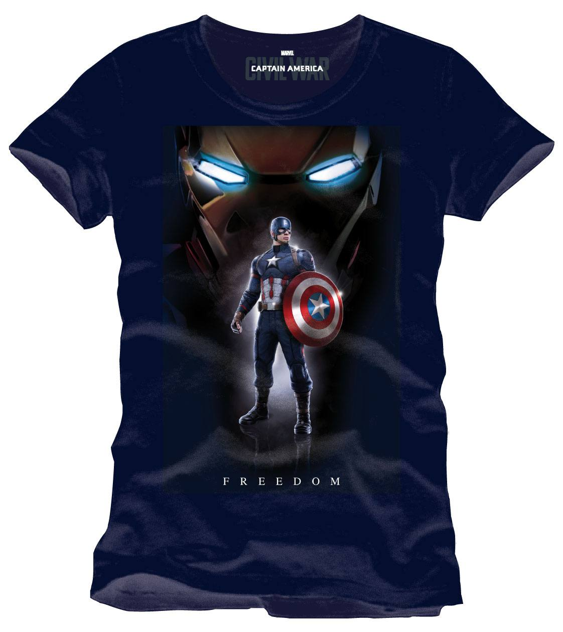Captain America Civil War T-Shirt Freedom Size S