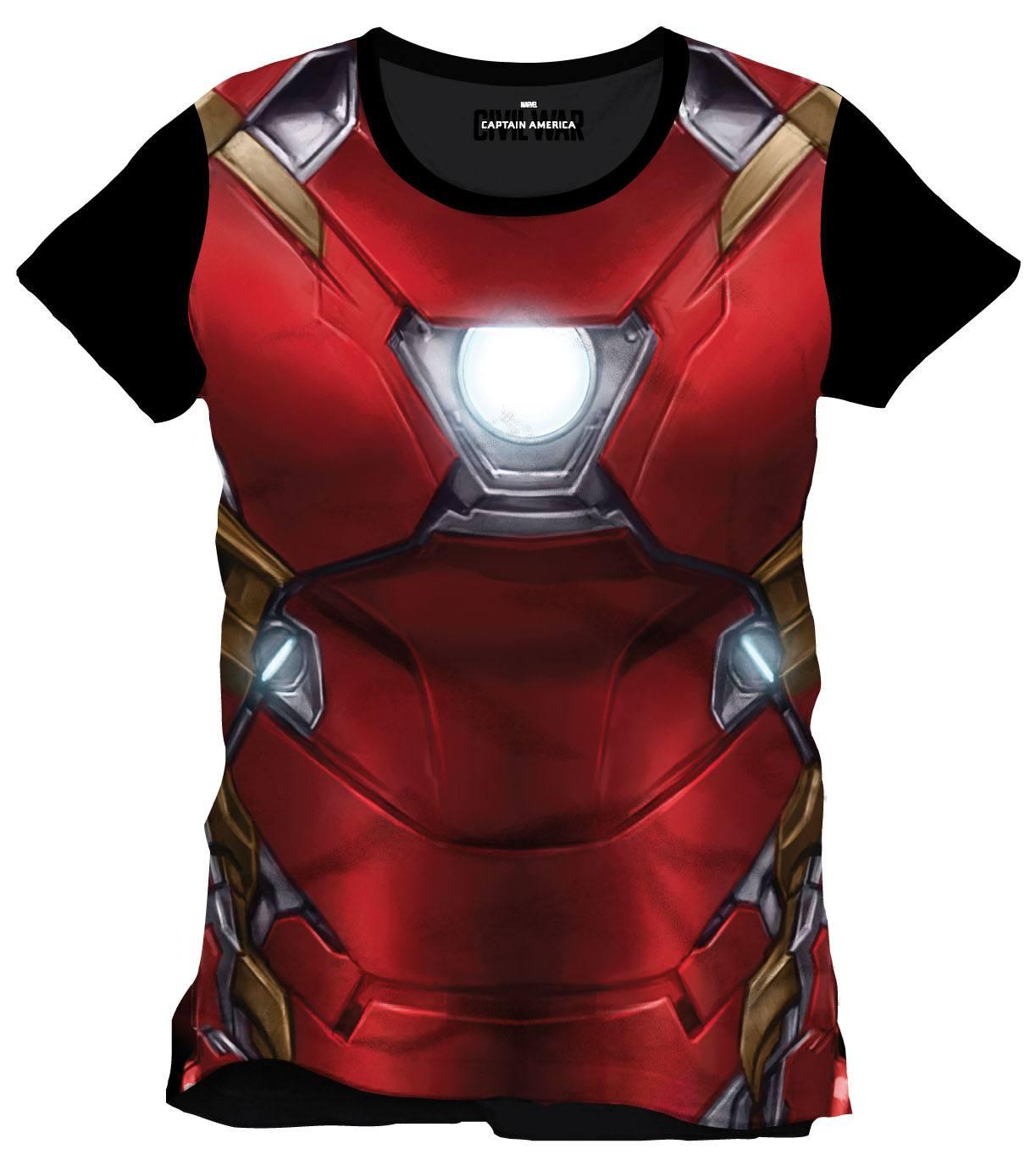 Captain America Civil War Sublimation T-Shirt Iron Man Chest Size XL