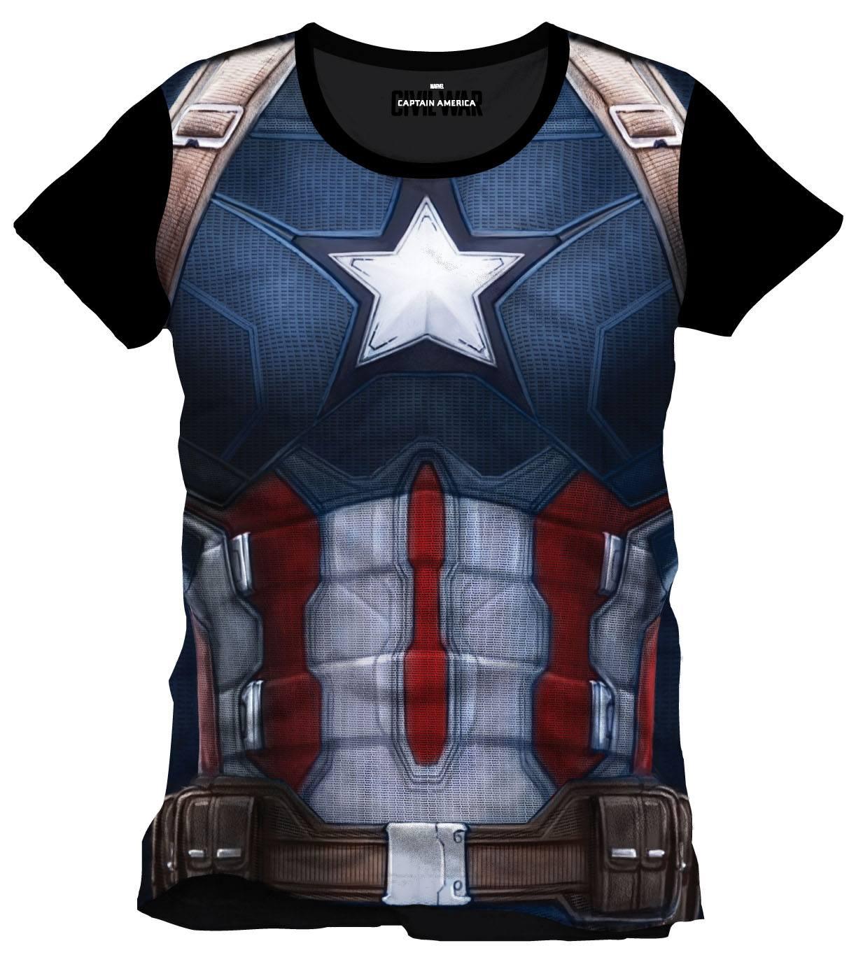 Captain America Civil War Sublimation T-Shirt Cap Chest Size L