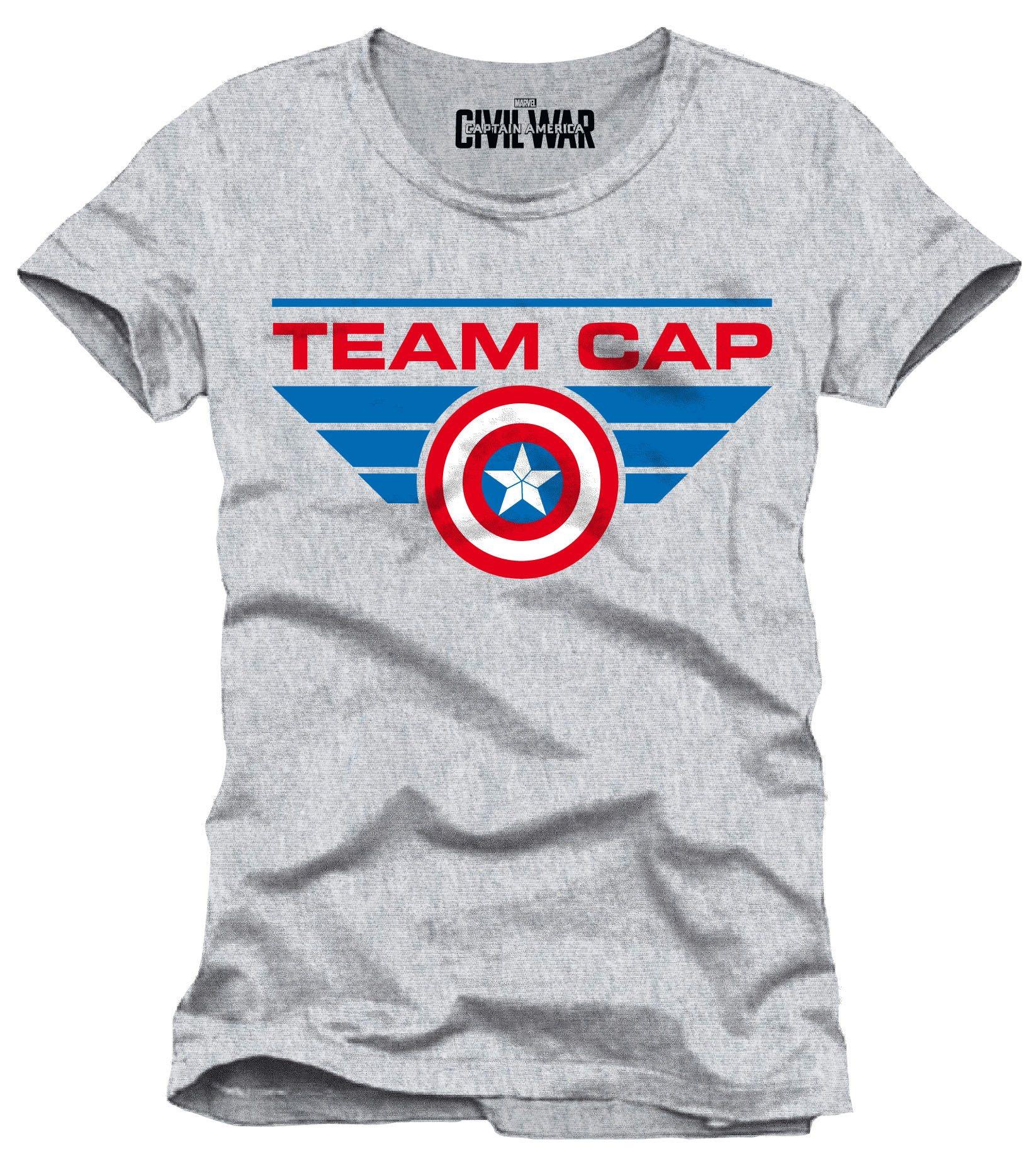 Captain America Civil War T-Shirt Team Cap Size L