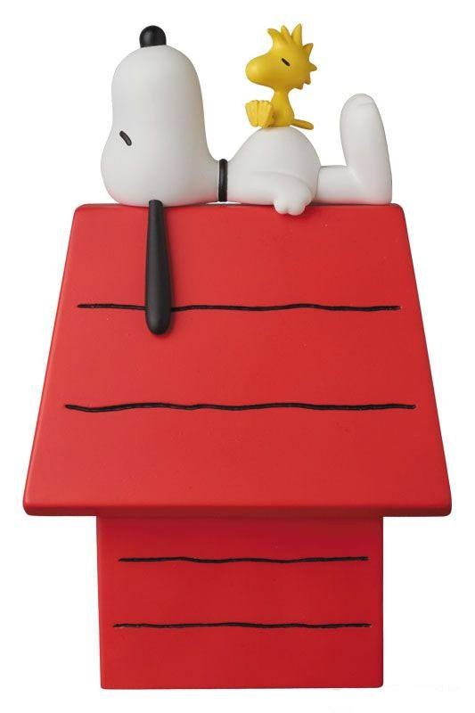 Peanuts VCD Vinyl Figure Snoopy, Woodstock & Dog House 15 cm
