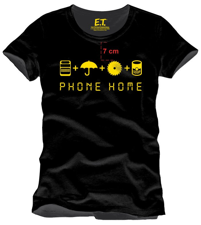 E.T. the Extra-Terrestrial T-Shirt Home Made Phone Size XXL