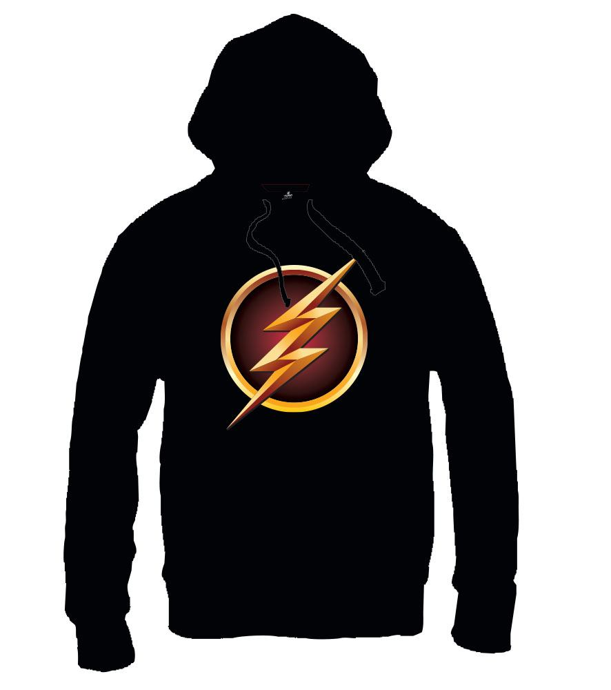 The Flash Hooded Sweater Logo Size L