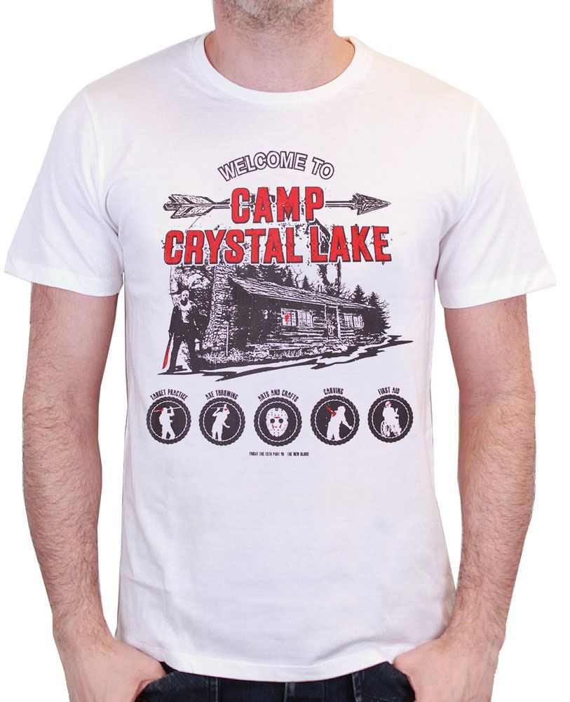 Friday the 13th T-Shirt Camp Crystal Lake White Size L
