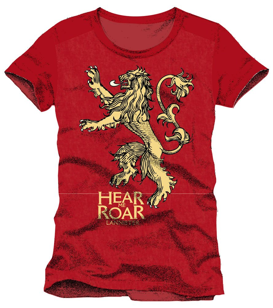 Game of Thrones T-Shirt Lannister Hear Me Roar Size XL