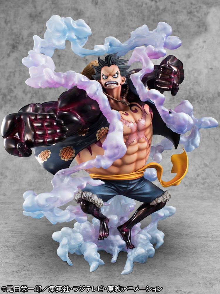 One Piece Excellent Model P.O.P Limited PVC Statue Monkey D. Luffy Gear 4 20 cm