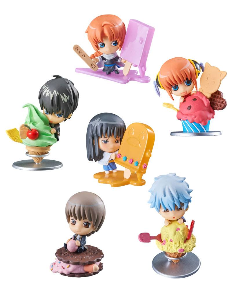 Gintama Petit Chara Trading Figure 6 cm Ice Cream Fruit Paradise Assortment (6)