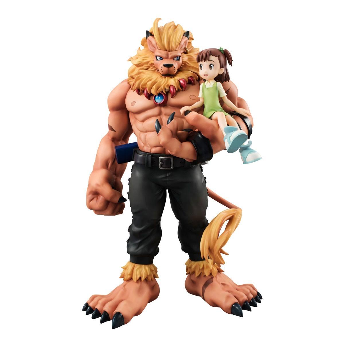 Digimon Tamers G.E.M. Series PVC Statue Leomon & Kato Jyuri 19 cm