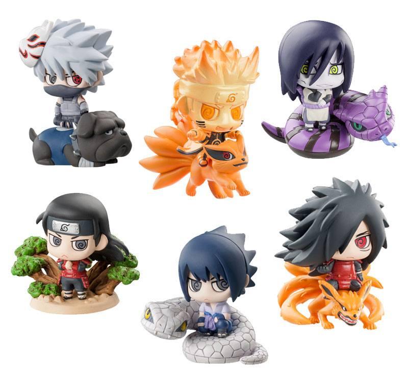 Naruto Shippuden Petit Chara Land Trading Figure 6 cm Kuchiyose! Ninkai Taisen Assortment (6)