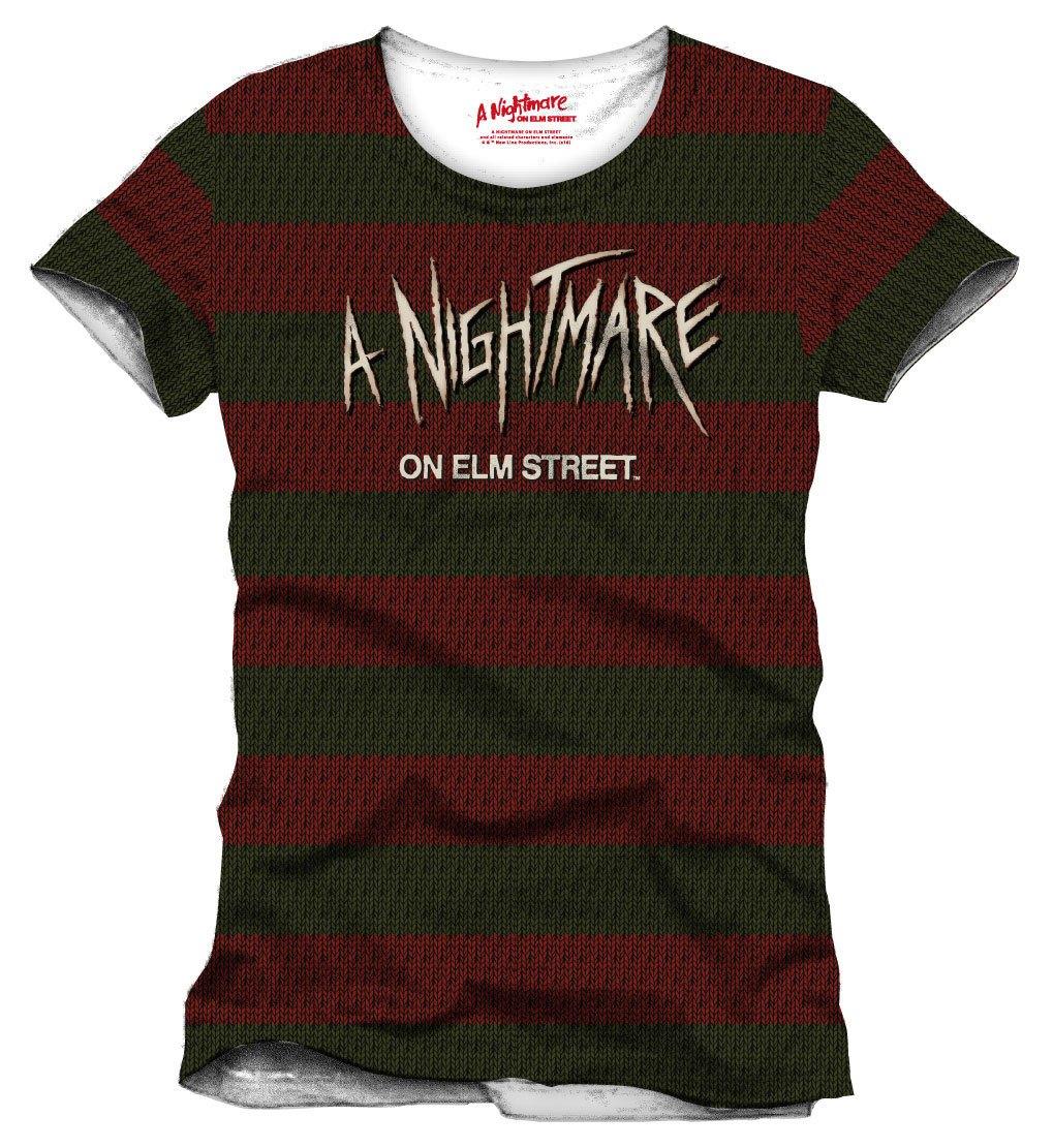 Nightmare On Elm Street T-Shirt Stripes Size XL