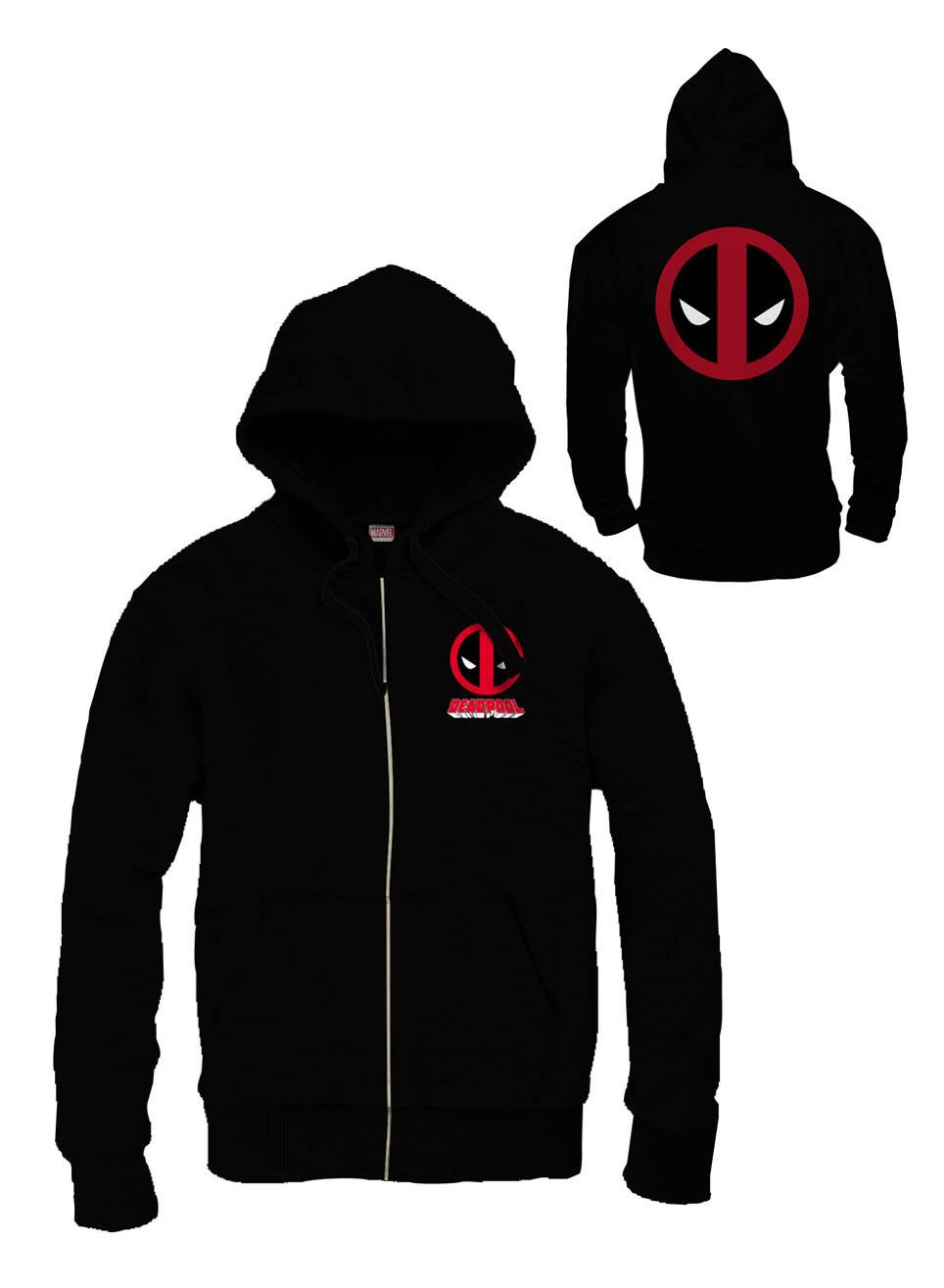 Deadpool Zipped Hooded Sweater Logo Size XL