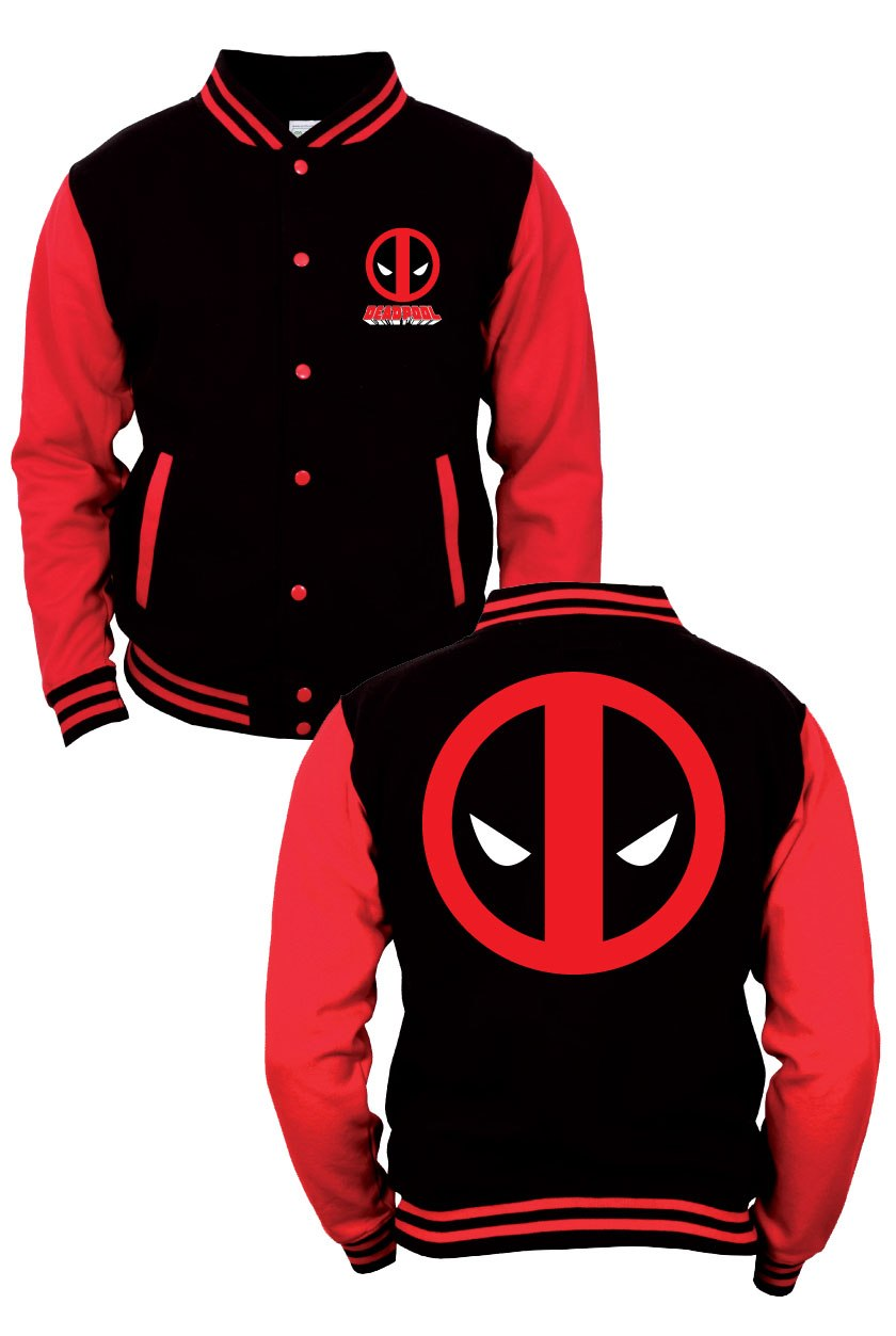 Marvel Comics Baseball Varsity Jacket Deadpool Size M