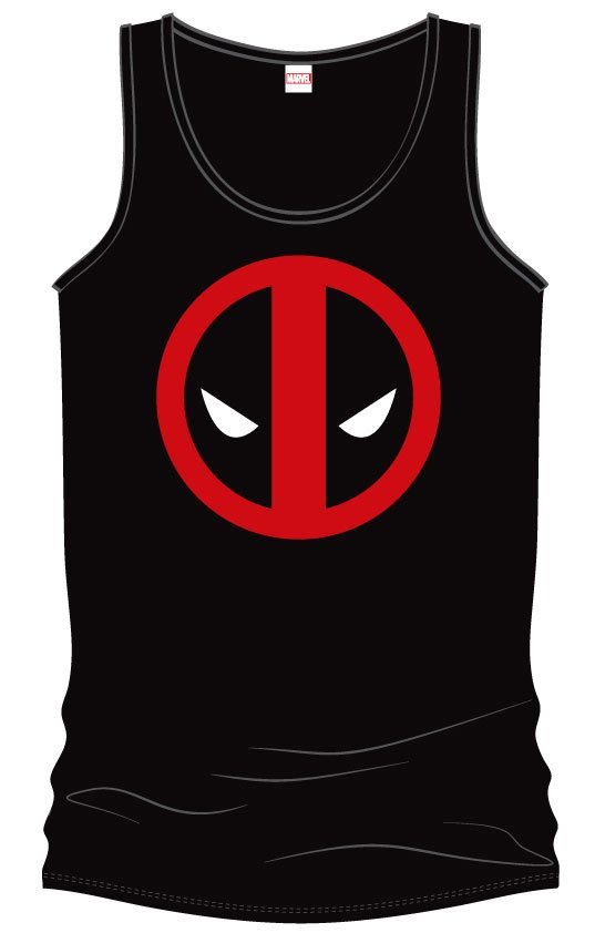 Deadpool Tank Top Eyes Size S