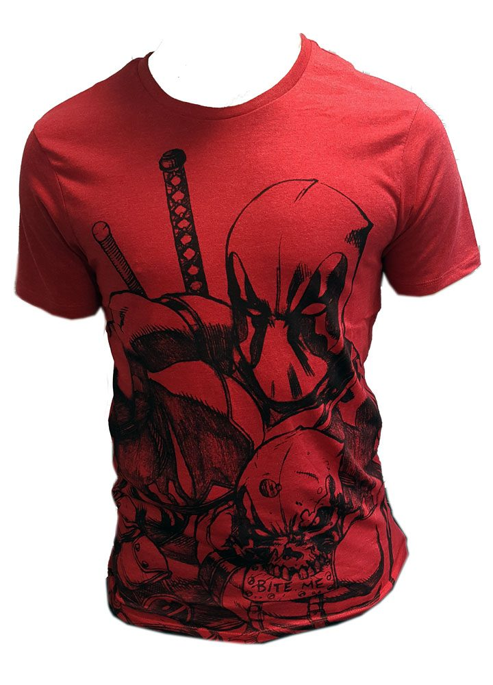 Deadpool T-Shirt Sketch Red Size L