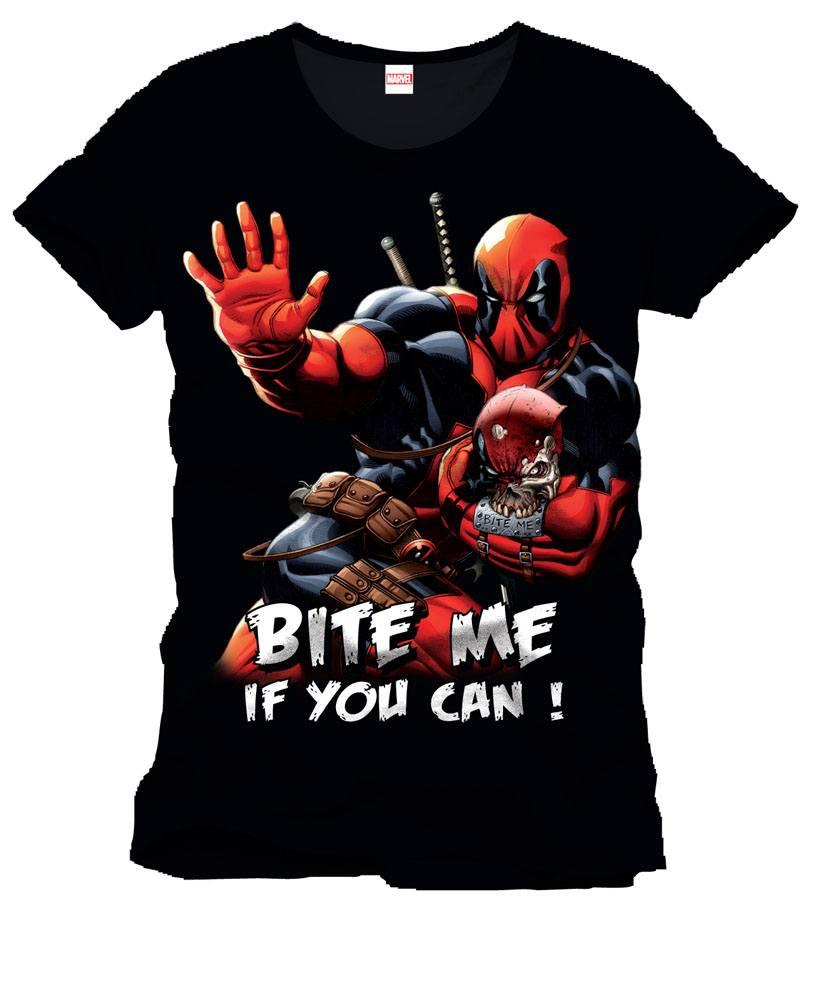 Deadpool T-Shirt Bite Me Size M