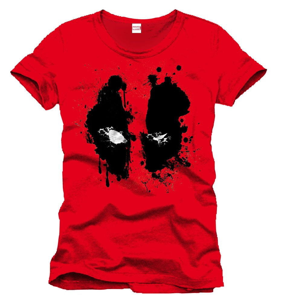 Deadpool T-Shirt Splash Head Size L