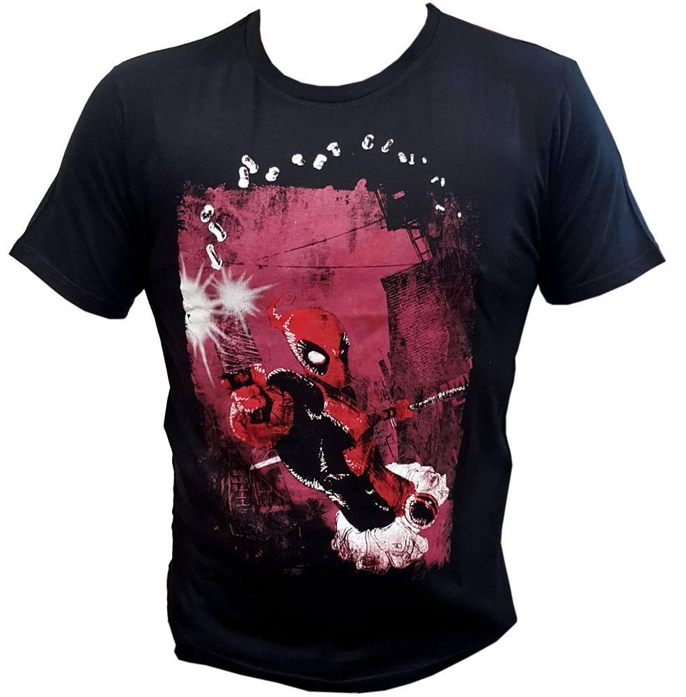 Deadpool T-Shirt Shot Gun Size S
