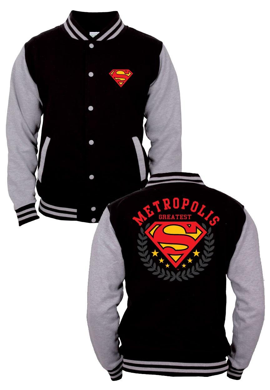 Superman Baseball Varsity Jacket Metropolis Size S