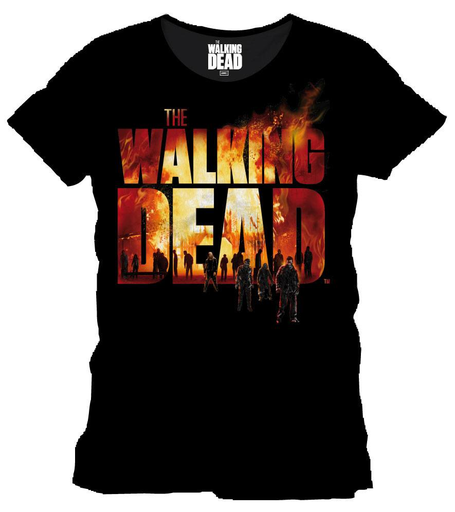 Walking Dead T-Shirt Burning Logo Size XL