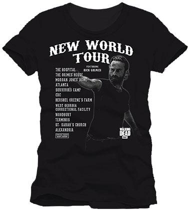 Walking Dead T-Shirt New World Tour Size XL