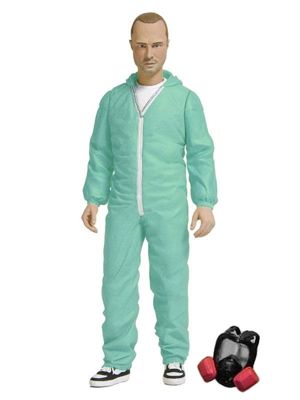 Breaking Bad Action Figure Jesse Pinkman in Blue Hazmat Suit Previews Exclusive 15 cm