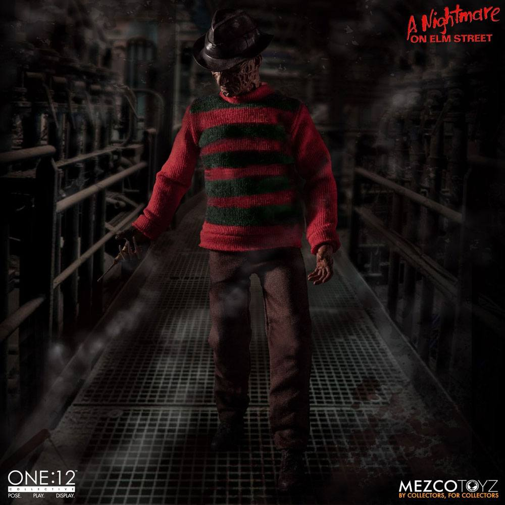 Freddy Krueger Nightmare On Elm Street 1/12 Action Figure by Mezco Toys