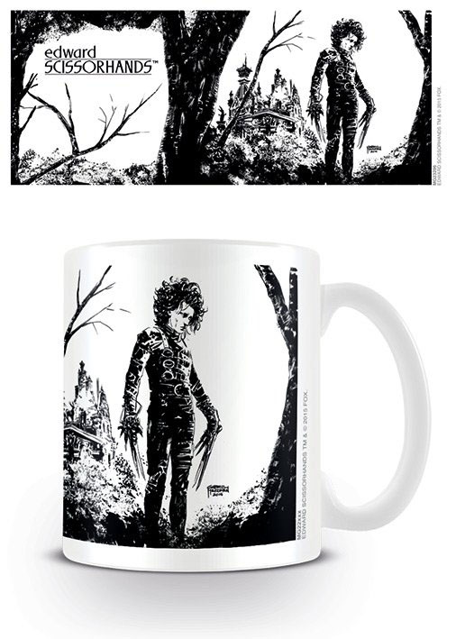 Edward Scissorhands Mug Black Ink