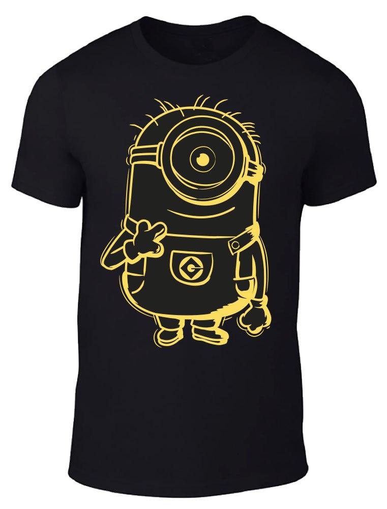 Minions T-Shirt Yellow Shadow Size L