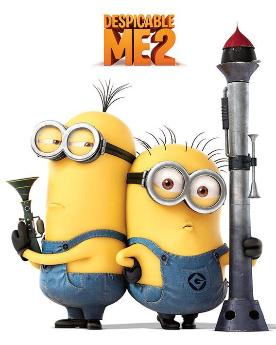 Despicable Me 2 Poster Pack Armed Minions 40 x 50 cm (5)
